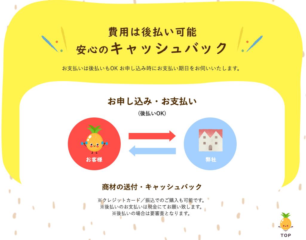 ぱいなっぷる|後払い現金化サービスの申込み方法